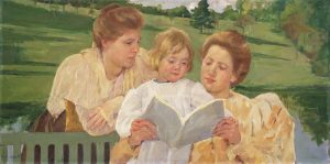 Mary Stevenson Cassatt, Family Group Reading, 1898, Philadelphia Museum of Art
