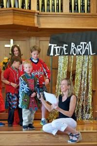 Kids make presentation at Worship