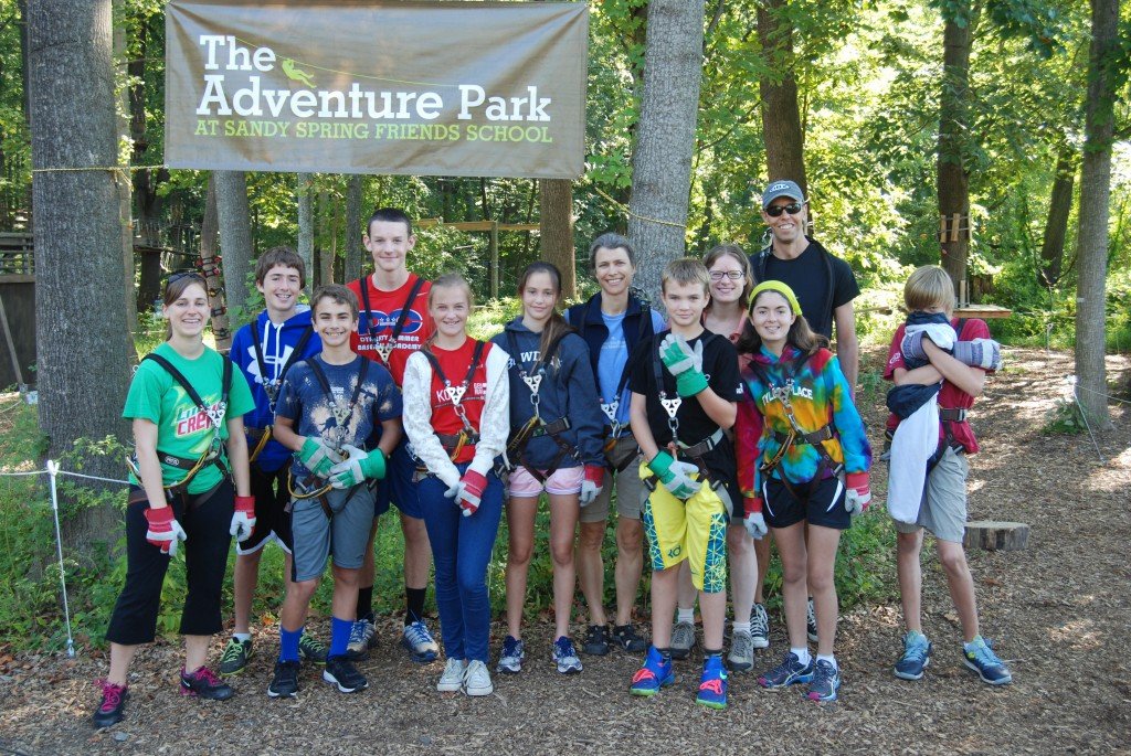 Cleveland Park Congregational UCC 2013-14 confirmation class at Sandy Springs Adventure Park